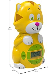Big Red Rooster BRRC102AC Cat Projection Alarm Clock, Operates On An AC Adaptor (Included) or 3 C Batteries
