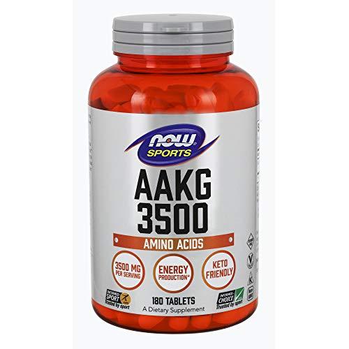 NOW Sports Nutrition, AAKG (Arginine Alpha-Ketoglutarate) 3500, 180 Tablets (Now Foods Aakg)