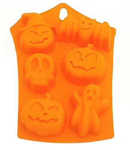 Halloween Pumpkin Molds Silicone Decorations - 6-Cavity Bat