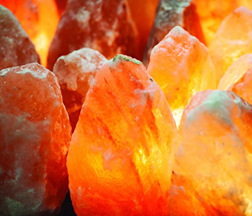 ArtNaturals Himalayan Rock Salt Lamp - Hand Carved Pink Crystal from Pure Salt in the Himalayas - for Rest, Relaxation and Energy - Real Wooden Base by ArtNaturals (Image #4)