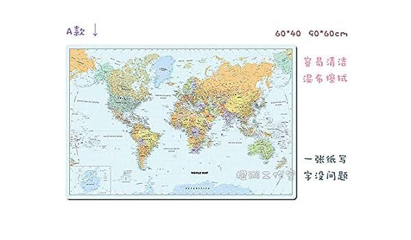Mapa del Mundo de Color Azul Claro con Bandera Nacional Oficina Inglesa Que escribe una Gran Alfombrilla de ratón Mantel Individual Mantel de Mesa 1100x600mm-2.2mm A: Amazon.es: Electrónica