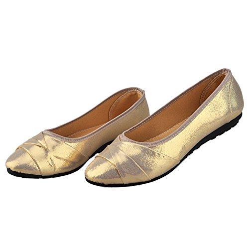 Plane 37 Casual Shoes Pointed Flat cut golden Low Women rwn8qaEr