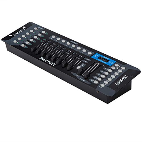 MARYGEL 192 CH DMX 512 Controller, Dmx Console for Stage Lights,Dj Lights, Par Lights, Moving head lights, Pubs, Disco. (Ch Controllers)
