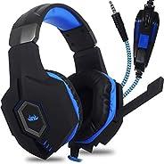 Headset Fone de Ouvido Gamer para Celular PS4 PS5 Xbox PC Gamer, P2 Único com Controle de Volume Microfone par
