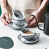 Yundu Ceramic Espresso Coffee Cups with Saucers