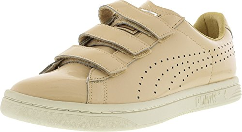 Puma Women's Court Star Natural Vachetta/Whisper White Ankle-High Leather Fashion Sneaker - 8.5M Puma Number