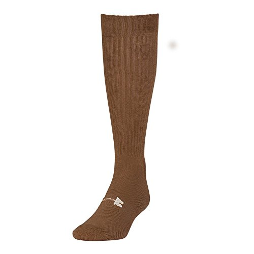 Under Armour Tactical HeatGear Over The Calf Socks, 1 Pair, Coyote Brown/White, Medium (Best Compression Socks For Hot Weather)