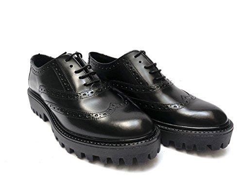 CUOIERIA de 37 negro Piel cordones mujer Zapatos para negro ANTICA de dcPq7dI