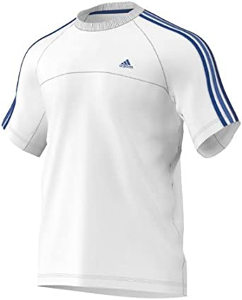 adidas Performance Essentials 3S Blanco algodón Climalite – Camiseta para Hombre, Hombre, Performance Essentials 3S, Blanco, Medium: Amazon.es: Deportes y aire libre