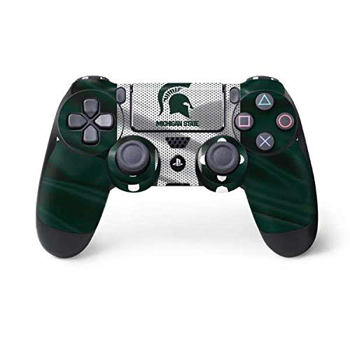 (Skinit Michigan State University Spartans Jersey PS4 Controller Skin - Officially Licensed Michigan State University Playstation 4 Wrap - Thin, Durable 3M Vinyl Decal)
