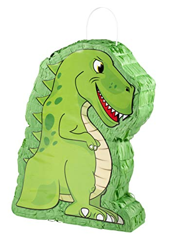 T-Rex Pinata - Kids Birthday Party Supplies for Dinosaur Themed Party, Green, 12 x 15.5 x 3 Inches