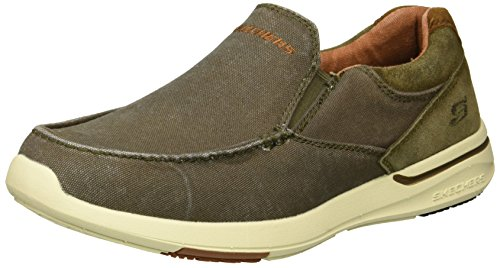 Skechers Men's Relaxed Fit-Elent-Olution Boat Shoe,olive,14 M US (On Skechers Slip Shoes)