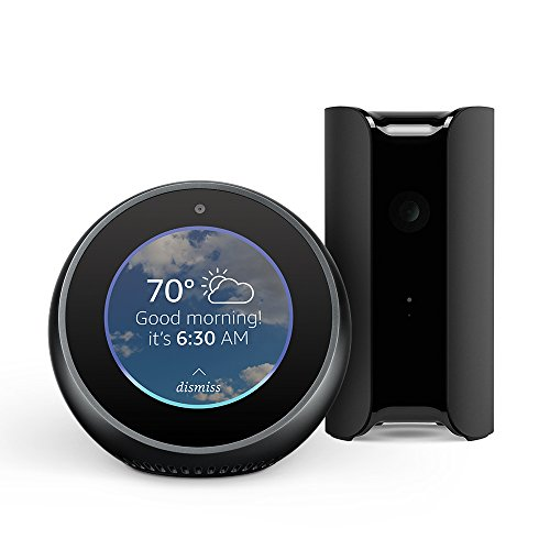 Echo Spot – Black + Canary All-in-One Security Camera