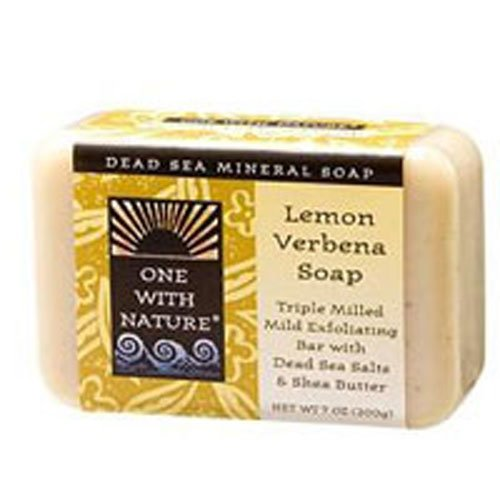 - One With Nature Dead Sea Mineral Soap, Lemon Sage, 7-Ounces (Pack of 6)