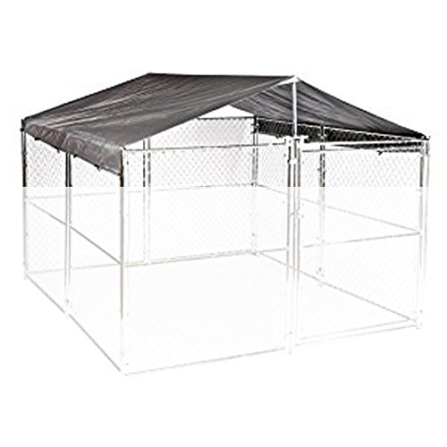 Weatherguard Universal Extra Large All Season Waterproof Dog Kennel Cover & Roof - For ALL 10ft. X 10ft. Outdoor Cages and Pens by Weatherguard