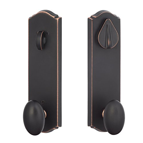 Sure-Loc SR107 11P Rustic Series Slickrock Entry Knob and Deadbolt, Vintage Bronze ()