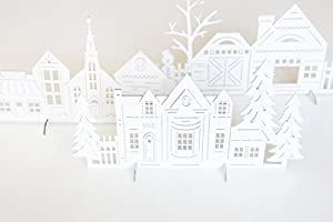 Amazon do it yourself christmas village medium density do it yourself christmas village medium density fiberboard village with 4 trees 4 animals solutioingenieria