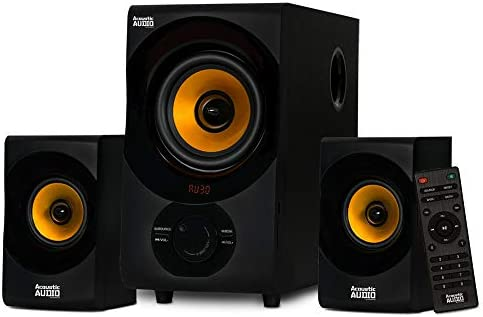 Acoustic Audio by Goldwood Bluetooth 2.1 Speaker System 2.1-Channel Residence Theater Speaker System, Black (AA2170)