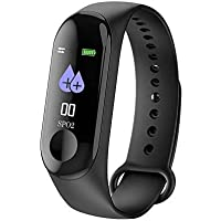 "Fitness Waterproof M3 Smart Band 0.87"" OLED Sports Smart Bracelet Blood Pressure Heart Rate Fitness Tracker Bluetooth for iOS Android with Cable Protector"