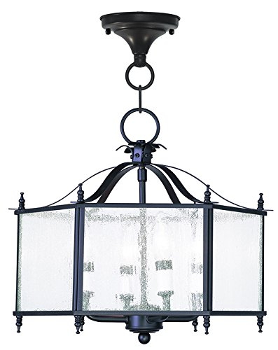LIVEX 4399-07 Livingston 4-Light Convertible Hanging Lant...