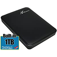 Avolusion 1TB USB 3.0 Portable External PS4 Hard Drive (PS4 Pre-Formatted) HD250U3-Z1 - w/2 Year Warranty