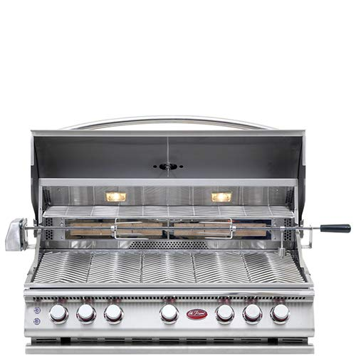 Cal Flame 089245002192 5 Burner Deluxe Convection Grill Head W/Rotisserie, Stainless Steel