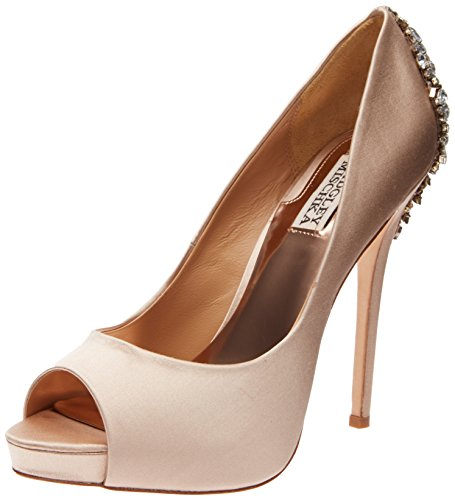 Badgley Mischka Women's Kiara Platform Pump,Latte,8 M US ()