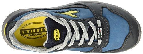 Diadora Run Low S3, Zapatos de Trabajo Unisex Adulto Azul (Blu Scuro/blu Cielo)