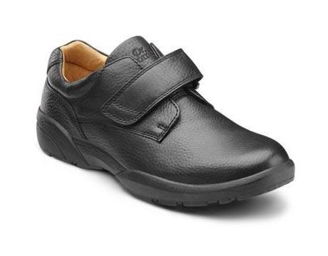 Dr. Comfort William Men's Therapeutic Diabetic Extra Depth Dress Shoe: Black 14.0 X-Wide (3E/4E) Velcro