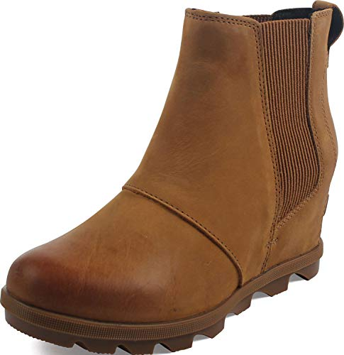 Sorel Women's Joan of Arctic Wedge II Chelsea Boots, Camel Brown 2, 6 M US