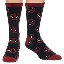 Crew Sock - Marvel - Deadpool Toss Print New Licensed cr1ypcmve