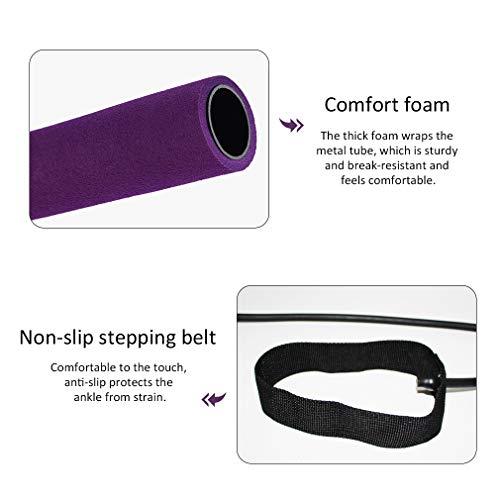 Pahajim Portable Pilates Bar Kit with Resistance Band Yoga Pilates Bar Kit Body Shaping Pilates Stick Hipsline Pilates…