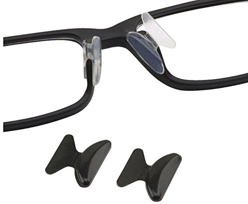 AM Landen 2.5mm 3 Pairs Black Non-slip Silicone Nose Pads for - Nose Sunglasses Piece