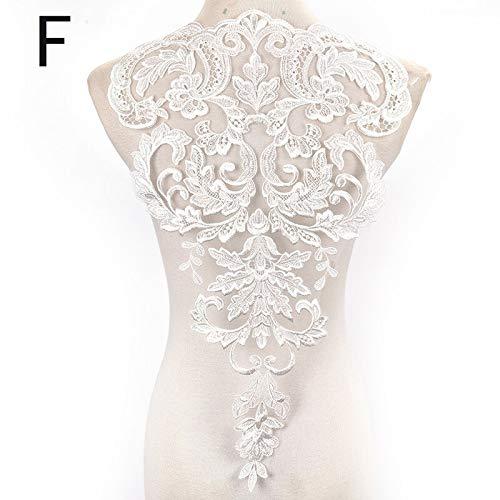 Anime Iron Transfer - Embroidered Floral Neckline Large Lace Collar One Piece Ivory Beaded Applique Corded Mesh - Pictures Picture Bird Lace Transfer Floral Loop Nordic Heat Bead Stripe Ca