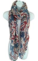 Eleoption Lightweight Viscose UK Uion Jack Flag Print Women Ladies Souvenir Scarf