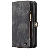 Wallet Case iPhone XS Max XR PU Leather Flip Cover with Card Holder