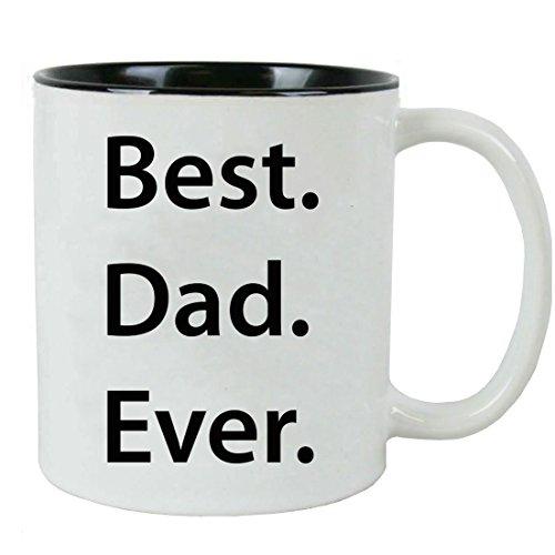 Best. Dad. Ever Ceramic Mug (Black) with Gift Box
