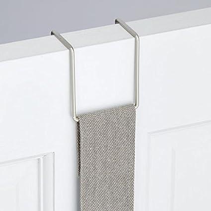 mDesign Estanteria para colgar en la puerta - Organizador para armarios sin tornillos para baño o vestidor - Repisa colgante con espejo - 2 bolsillos de ...