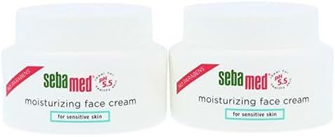 Sebamed Moisturizing Face Cream Dermatologist Recommended for Sensitive Skin with Vitamin E 2.6 Fluid Ounces (75 Milliliters) 2-Pack