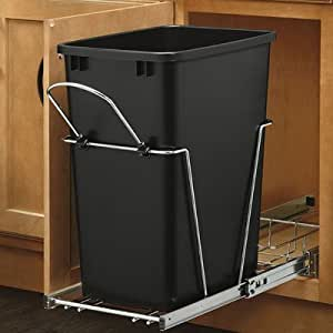 rev a shelf rv 35 18 35 qt black replacement container only by rev a shelf. Black Bedroom Furniture Sets. Home Design Ideas