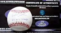Rafael Santana autographed baseball (New York Mets 1986 World Series Champions) insribed 86 WS Champs AW Certificate of Authenticity Hologram OMLB