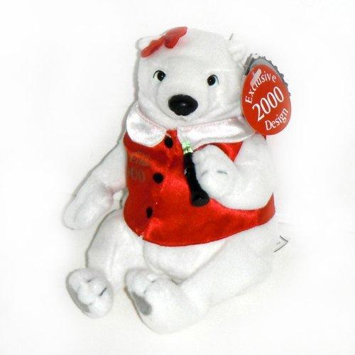 #0278 Coca-Cola Lady Polar Bear Exclusive 2000 Design - Coke Bean Bag Plush 8
