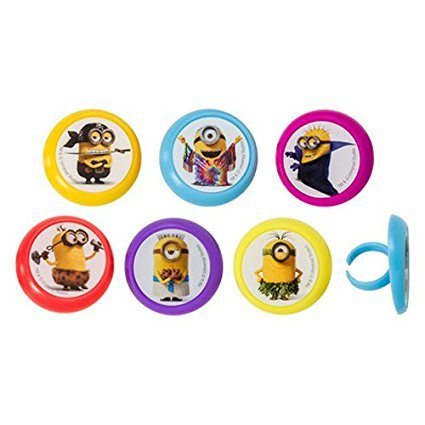 Despicable Me Minions Evolution Cupcake Rings - 24 pc (Minions Cupcake Toppers)