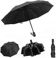 Waliwell Paraguas Automático de Viaje, Paraguas Invertido con 10 Costillas, Paraguas Plegables para Hombre y M