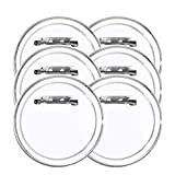 Badge Button Pin FJSM 30Pcs Round DIY Button Badge Acrylic Design Clear Plastic Large Pin Button Badge Kit for Children's DIY Craft Supplies, 2.4 inch