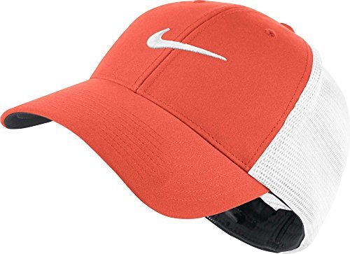 NIKE Legacy 91 Tour Mesh Fitted Hat 727031 Orange (L-XL)