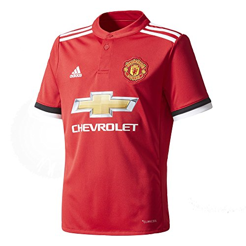 悲劇エンジニアリングあいまいなadidas YOUTH Manchester United Home Soccer Stadium Jersey 2017-18