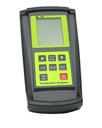 TPI 709A740 Combustion Efficiency Analyzer with Infrared Printer, 3 x AA Batteries, 3 Line Backlit LCD Display, 14 to 122 Degree F