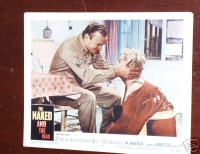 Original 11x14 Lobby Card Aldo Ray Naked and the - Ray Ray Naked