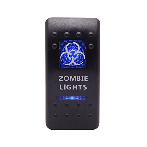 Cllena ZOMBIE LIGHTS Rocker Switch ON-OFF Blue LED Light 20A 12V 5pin
